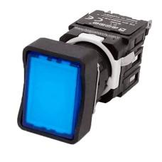 Прямокутна натискна кнопка EMAS D100DDM (1НО) синя