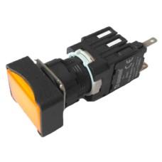 Прямокутна натискна кнопка EMAS D100DDS (1НО) жовта