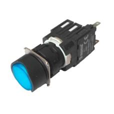 Натискна кнопка EMAS D100YDM (1НО) синя