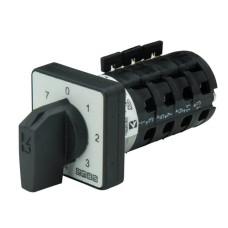 Кулачковий перемикач EMAS PS063KS127 7-ступінчастий (0-1-2-3-4-5-6-7) 63А