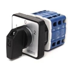 Кулачковий перемикач полюсів EMAS PSA010KD334S реверсивний (1-0-2) 10А