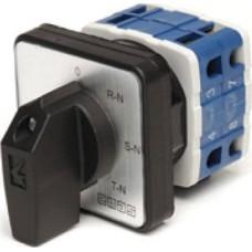 Кулачковий перемикач вольтметра EMAS PSA010OK421S 4-позиційний (3 фази / нейтраль) 10А