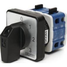 Кулачковий перемикач амперметра EMAS PSA010OK426S 4-позиційний 10А