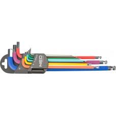 Набір шестигранних ключів Neo Tools 09-512 1.5-10мм (9шт)