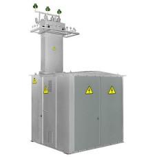 Тупікова трансформаторна підстанція КТП1-100/10 (6)/0,4 кіоскового типу з повітряним введенням