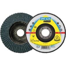 Пелюстковий тарільчастий круг KLINGSPOR 125х22.1 P40 SMT 624