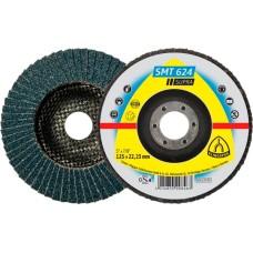 Пелюстковий тарільчастий круг KLINGSPOR 125х22.1 P60 SMT 624