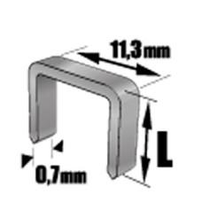 Скоба для степлера TOPEX 41E308 8мм тип J (1000шт)