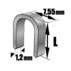 Скоба для степлера TOPEX 41E441 10мм тип L (1000 шт)
