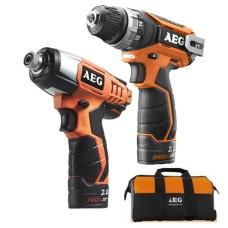 Набір інструментів AEG 4935451234 в комплекті з BS12C2 X5 BSS12C X4 L1215 LL1230