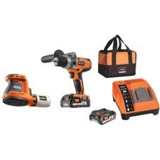 Набір електроінструментів AEG 4935451088 (BSB18C-0 BEX18-125-0 L1820R BL1218)