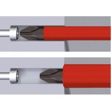 Диэлектрическая отвертка Wiha W35393 SoftFinish electric slimFix VDE PH1х80 CrVMo