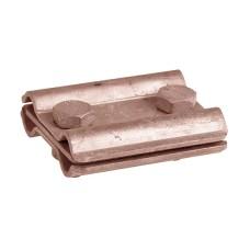 Мідний паралельний зажим прута блискавкозахисту з роздільною пластиною DKC NG3107CU Ø8мм