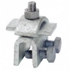 Фальцевий зажим для струмовідвідного провідника DKC ND2001ZC Ø8мм з оцинкованої сталі (с діапазоном затиску 12мм)