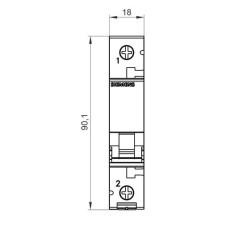 Автоматичний вимикач Siemens 5SL6163-6 230В/400В 1Р В 63А