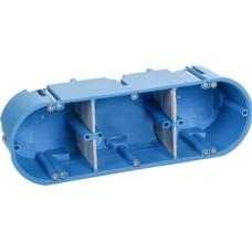 Тримісний негорючий підрозетник Simet PVC