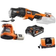 Набір електроінструментів AEG 4935451089 (OMNI18C-0 BEX18-125-0 OMNI-MT L1820R BL1218)