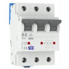 Трьохполюсний автомат SEZ 63 B 50А 3P (PR63B50А)