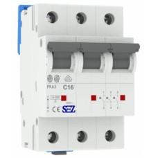 Трьохполюсний автомат SEZ 63 з 16А 3P (PR63C16А)