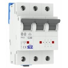 Трьохполюсний автомат SEZ 63 з 20А 3P (PR63C20А)