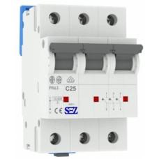 Трьохполюсний автомат SEZ 63 з 25А 3P (PR63C25А)