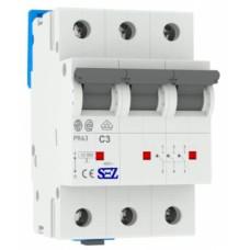 Трьохполюсний автомат SEZ 63 C 3А 3P (PR63C3А)