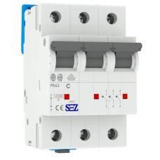 Трьохполюсний автомат SEZ 63 C 8А 3P (PR63C8А)