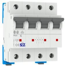 Чотирьохполюсний автомат SEZ 64 C 25А 4P (PR64C25А)