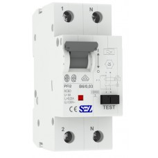 Диф автомат SEZ PFI2 B 6A/0,03A (PFI2B_6A/0,03A)