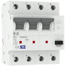 Диф автомат SEZ PFI4 C 20A/0,03A (PFI4C_20A/0,03A)