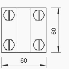 Хрестовий з'єднувач OBO Bettermann (5312345) 252 8-10X16 FT FT (40-60 мкм)
