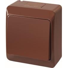1-клавішний вимикач Elektro Plast 0331-6 Hermes IP44 коричневий