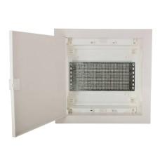 Мультимедійний щиток ETI 001101189 ECG14 MEDIA-PO (перфорована панель і пластикова біла дверка)