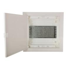 Мультимедійний щиток ETI 001101186 ECG14 MEDIA-PT (перфорована панель і пластикові прозорі двері)