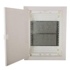 Мультимедійний щиток ETI 001101190 ECG28 MEDIA-PO (перфорована панель і пластикова біла дверка)