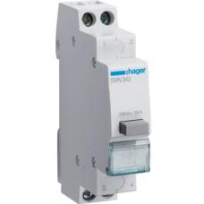 Кнопковий вимикач Hager SVN342 230В/16А 2НЗ