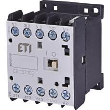 Мініатюрний контактор ETI 004641100 CEC 07.10 24V DC (7A; 3kW; AC3)