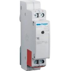 Електронне імпульсне реле Hager EP411 з двома окремими входими 1НО 16А/8-24В