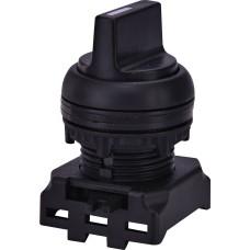 Трьохпозиційний поворотний перемикач ETI 004771354 EGS3-NS-C без фіксації справа 1-0-2 45° (чорний)