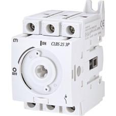 Вимикач навантаження ETI 004661401 CLBS 25 3P 25A «1-0» (без рукоятки)
