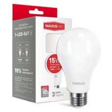 Світлодіодна лампа Maxus A70 15Вт 4100K 220В E27 (1-LED-568)