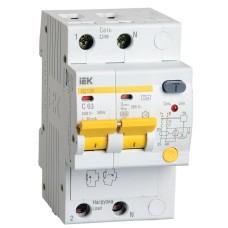 Диференційний автоматичний вимикач IEK АД12М 2Р, В25,30мА