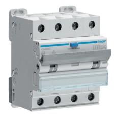 Диференційний автоматичний вимикач Hager ADM490C 6kA C-40A 30mA A