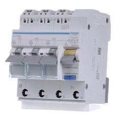 Диференційний автоматичний вимикач Hager ADZ366D, C16А, 30мА
