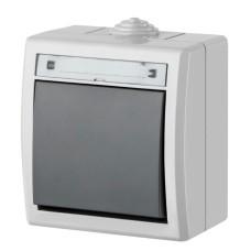 1-клавішний вимикач Elektro-Plast Aquant 1201-10 (сірий)