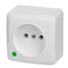 Одномісна розетка Elektro-Plast Berg 3740-00 (біла)