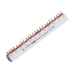 Шина з'єднувальна 4P типу FORK (вилка) на 12 модулів, 10мм2,63A, Hager