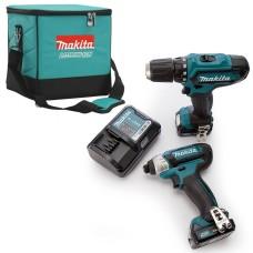 Набір електроінструментів Makita CLX201AX6 (DF331D,TD110D,DC10WD,BL1021Bx2)
