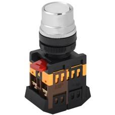 Кнопка керування ABLF-22 біла Ø22мм неон/220В 1з+1р IEK