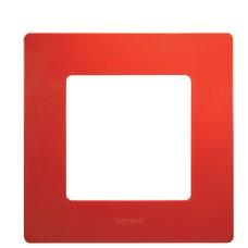 Рамка 1 постіва червона Legrand
